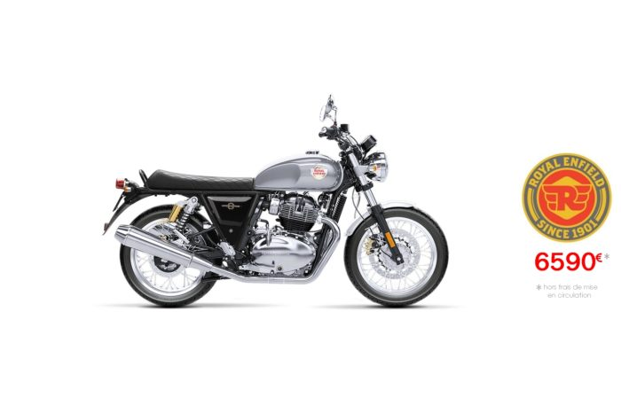 Royal Enfield 650cm3 Interceptor Silver Spectre